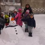 Първи сняг в детската градина 2014